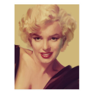 Marilyn in Black Postcard