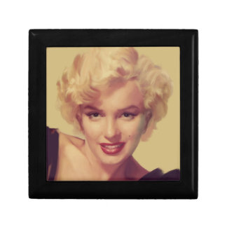 Marilyn in Black Small Square Gift Box