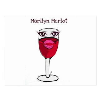 MARILYN MERLOT...WINE PRINT BY JILL POSTCARD