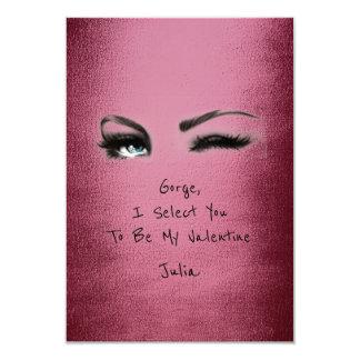 Marilyn Monroe Burgundy Valentine Love Declaration 9 Cm X 13 Cm Invitation Card