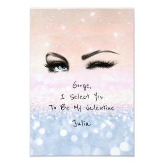 Marilyn Monroe Pink Blu Valentine Love Declaration 9 Cm X 13 Cm Invitation Card