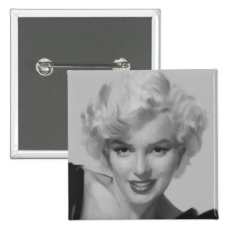 Marilyn the Look 2 15 Cm Square Badge