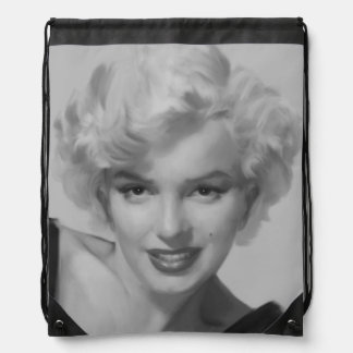 Marilyn the Look 2 Drawstring Bag