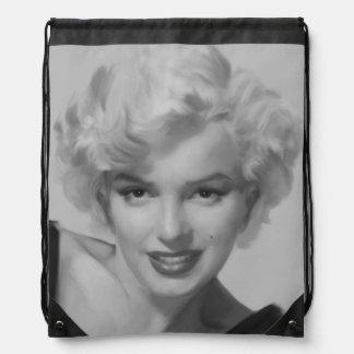 Marilyn the Look Drawstring Bag