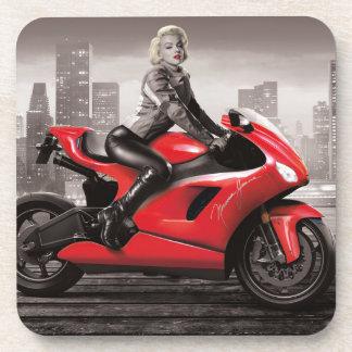 Marilyn's Motorcycle Beverage Coaster