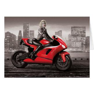Marilyn's Motorcycle Card