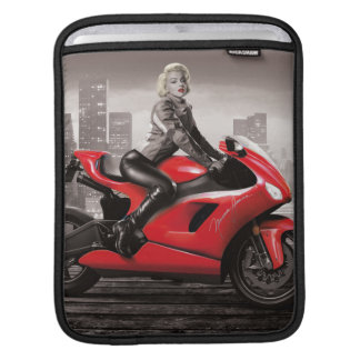 Marilyn's Motorcycle iPad Sleeve
