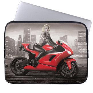 Marilyn's Motorcycle Laptop Sleeve