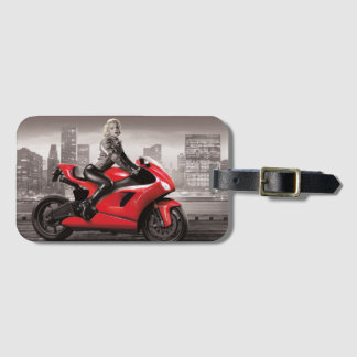 Marilyn's Motorcycle Luggage Tag