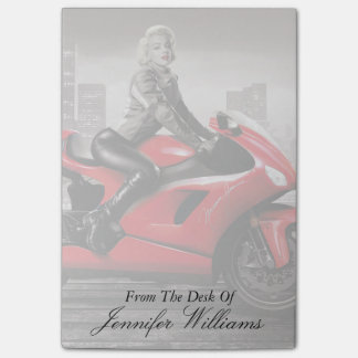 Marilyn's Motorcycle Post-it Notes