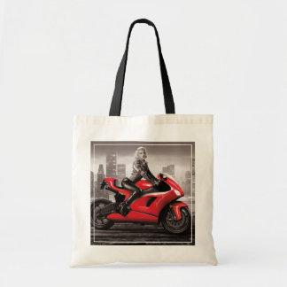 Marilyn's Motorcycle Tote Bag