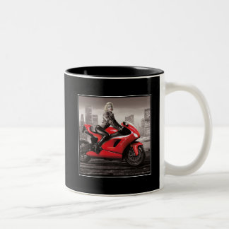 Marilyn's Motorcycle Two-Tone Coffee Mug