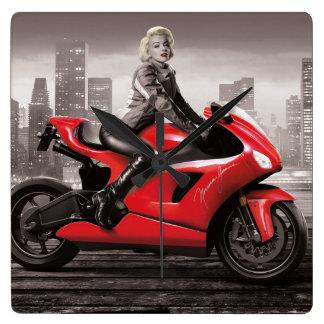 Marilyn's Motorcycle Wall Clocks