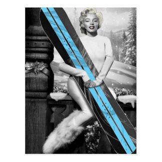 Marilyn's Snowboard Postcard