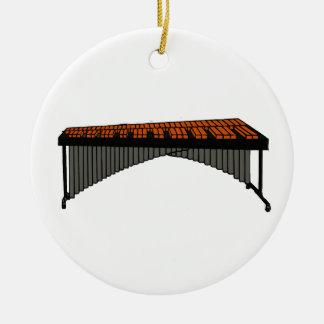 Marimba Design Graphic 1 Round Ceramic Decoration