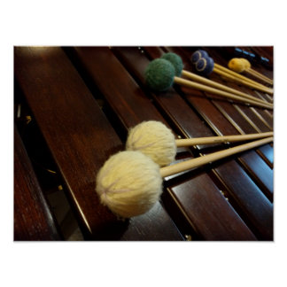 Marimba Mallets on Marimba Poster