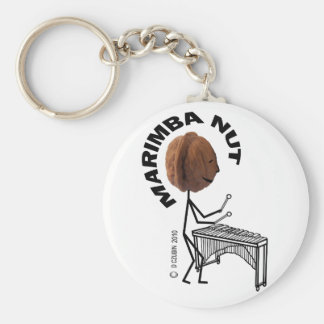 Marimba Nut Basic Round Button Key Ring