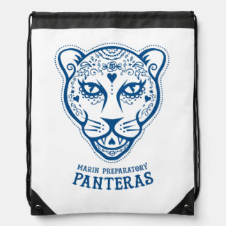 Marin Preparatory Blue Pantera Drawstring Backpack
