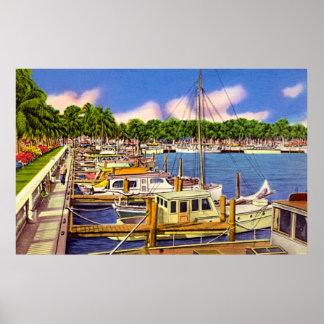 Marina at Fort Myers, Florida Poster
