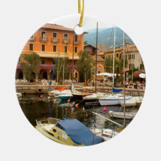 Marina at Menaggio, Lake Como Christmas Ornament