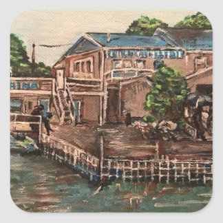 """Marina at Portside, Kelley's Island, Ohio Sticker"