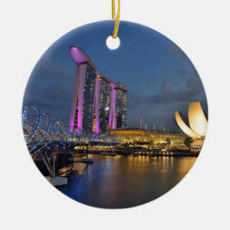 Marina Bay Sands luxury hotel Singapore Round Ceramic Decoration
