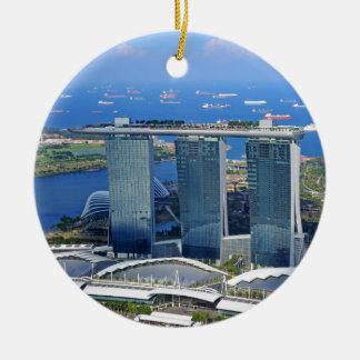 Marina Bay Sands luxury ship shaped hotel Christmas Ornament