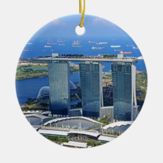 Marina Bay Sands luxury ship shaped hotel Round Ceramic Decoration