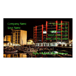 Marina by Night - business cards templates