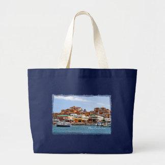 Marina Cabo Dark Jumbo Tote Canvas Bags