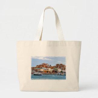 Marina Cabo Jumbo Tote Canvas Bag