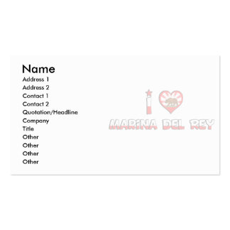 Marina del Rey, CA Business Card Template