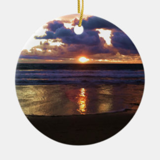 Marina del Rey Sunset Round Ceramic Decoration