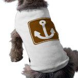 Marina Highway Sign Dog Tee