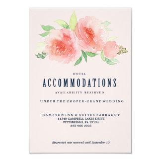 MARINA / HOTEL ACCOMMODATIONS WEDDING hotel card 9 Cm X 13 Cm Invitation Card