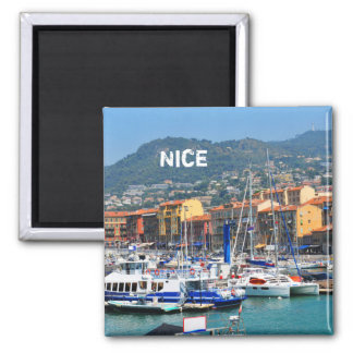Marina in Nice, France Magnet