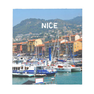 Marina in Nice, France Notepad