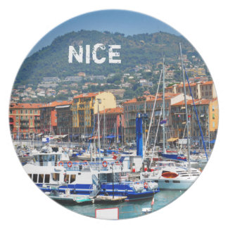 Marina in Nice, France Plate