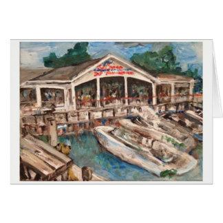 Marina in Western Basin Greeting Card