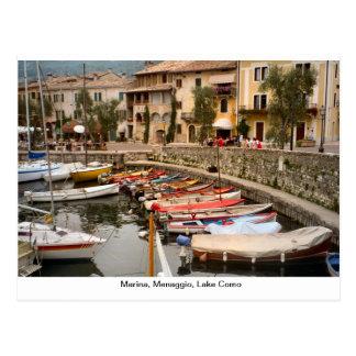 Marina, Menaggio, Lake Como 2 Postcard