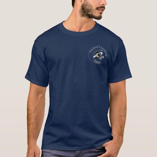 marina navy blue-no back T-Shirt