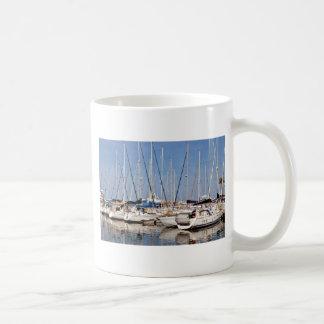Marina of Saint-Cyprien in France Mugs
