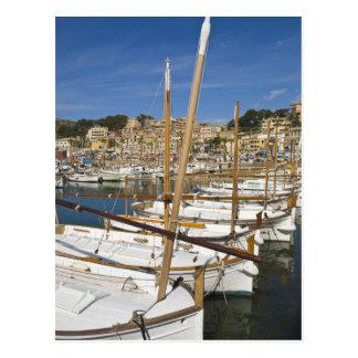 Marina, Port de Soller, West coast, Mallorca, Postcard