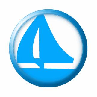 Marina Symbol - Sailboat Standing Photo Sculpture