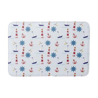 Marina Themed Sailboat Pattern Bath Mat