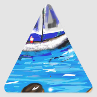 Marina Triangle Sticker
