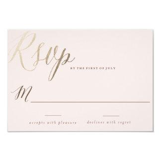 MARINA / wedding invitation response card