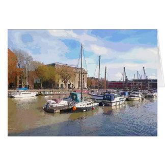 """Marina with Arnolfini, Bristol"" Blank Card"