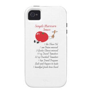 MARINARA RECIPE Case-Mate iPhone 4 COVER
