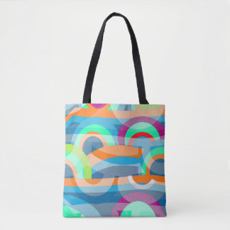 Marine abstraction tote bag